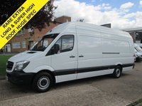 USED 2014 63 MERCEDES-BENZ SPRINTER 2.1 316CDI XLWB 163 BHP SUPER HIGH ROOF. EXTRA LONG. AIRCON. 1 OWNER. SATNAV. MEDIA. AIRCON. IDEAL CAMPER OR MOTOCROSS. PX