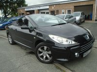 USED 2005 55 PEUGEOT 307 2.0 S COUPE CABRIOLET 2d 139 BHP LOW MILEAGE CONVERTIBLE+NEW MOT