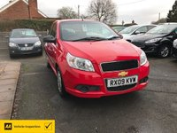USED 2009 09 CHEVROLET AVEO 1.2 S 3d 83 BHP ALL CARS AA INSPECTED
