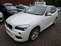 USED 2013 13 BMW X1 2.0 SDRIVE18D M SPORT 5d 141 BHP 1 OWNER FULL RED LEATHER