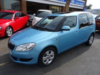 USED 2014 14 SKODA ROOMSTER 1.2 SE TSI DSG 5d AUTO 105 BHP  MIAMI BLUE/CHARCOAL TRIM