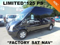 USED 2013 63 FORD TRANSIT LIMITED LWB H/ROOF 2.2 TDCi 125 6 Speed*FACTORY SAT NAV*