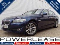 USED 2011 61 BMW 5 SERIES 2.0 520D EFFICIENTDYNAMICS 4d 181 BHP FSH SAT NAV BLUETOOTH PSENSORS £30 ROAD TAX