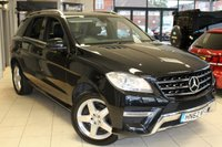USED 2012 62 MERCEDES-BENZ M CLASS 2.1 ML250 BLUETEC SPORT 5d AUTO 204 BHP FULL MERCEDES BENZ SERVICE HISTORY + FULL BLACK LEATHER SEATS + ACTIVE PARK ASSIST + 19 INCH ALLOYS + ELECTRIC TAILGATE + AMG SPORT PACKAGE + ELECTRIC FRONT SEATS + AIR CONDITIONING