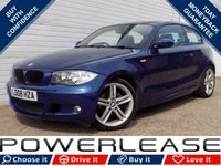 USED 2008 08 BMW 1 SERIES 2.0 118I M SPORT 3d 141 BHP 1/2 LEATHER P/SENSORS AUX IN