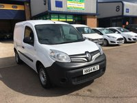 USED 2014 64 RENAULT KANGOO 1.5 ML19 DCI 1d 75 BHP 43,000 MILES, BLUETOOTH, E/W, Recent full service, 1 owner, Bluetooth, Electric Windows, Power Steering, Remote Central Locking, Side Load Door, Electric Mirrors, ABS, Height Adjustable Seat, Adjustable Steering Column, Air Bag, CD Player, Radio, ply lined, bulk head. Part exchange welcome, delivery can be arranged, we can also supply & fit roof racks, ply lining, hands free kits, parking sensors or any other requirements you may require when purchasing your new van