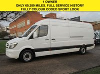 USED 2014 14 MERCEDES-BENZ SPRINTER 2.1 313CDI LWB HIGH ROOF 129BHP. 1 OWNER. RARE COLOUR CODED IDEAL CAMPER OR MOTOCROSS. WARRANTY. FINANCE. PX