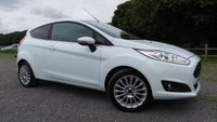 USED 2014 14 FORD FIESTA 1.5 TITANIUM TDCI 3d 74 BHP F/F/S/H 3 X SERVICE STAMPS,2 X KEYS, ONE OWNER,CLIMATE AND A/C,ALLOYS, PRIVACY GLASS,NATIONWIDE DELIVERY SERVICE