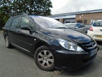 USED 2004 04 PEUGEOT 307 1.6 S 5d 108 BHP NEW MOT ON SALE+GREAT VALUE ESTATE