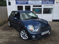 USED 2010 60 MINI HATCH COOPER 1.6 COOPER 3d 122 BHP 34866 MILES FSH HIGH SPEC MODEL BEAUTIFUL BLUE METALLIC