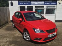 USED 2013 13 SEAT IBIZA 1.4 TOCA 5d 85 BHP 17366 MILES FSH ONE LADY OWNER BEAUTIFUL GLOSS RED EXCELLENT CONDITION