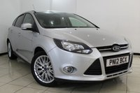 USED 2012 12 FORD FOCUS 1.6 ZETEC 5DR 104 BHP FULL SERVICE HISTORY + AIR CONDITIONING + BLUETOOTH + MULTI FUNCTION WHEEL + RADIO/CD + 16 INCH ALLOY WHEELS