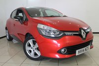 USED 2014 14 RENAULT CLIO 1.5 DYNAMIQUE MEDIANAV ENERGY DCI S/S 5DR 90 BHP SAT NAVIGATION + BLUETOOTH + CRUISE CONTROL + MULTI FUNCTION WHEEL + 16 INCH ALLOY WHEELS