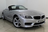 USED 2015 15 BMW Z4 2.0 Z4 SDRIVE18I M SPORT ROADSTER 2DR 155 BHP SERVICE HISTORY + LEATHER SEATS + 0% FINANCE AVAILABLE T&C'S APPLY + AIR CONDITIONING + BLUETOOTH + MULTI FUNCTION WHEEL + DAB RADIO + 18 INCH ALLOY WHEELS
