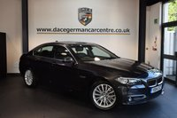 USED 2014 14 BMW 5 SERIES 3.0 530D LUXURY 4DR AUTO 255 BHP + FULL BLACK LEATHER INTERIOR + FULL SERVICE HISTORY + PRO SATELLITE NAVIGATION + BLUETOOTH + HEATED SEATS WITH MEMORY + CRUISE CONTROL + DAB RADIO + CONNECTED DRIVE + PARKING SENSORS + 18 INCH ALLOY WHEELS +