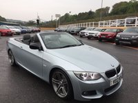 USED 2012 12 BMW 3 SERIES CABRIOLET 320d SPORT PLUS EDITION Diesel 181 BHP Silverstone II Metallic Silver Blue with Grey full leather, Sat Nav, Bluetooth & 19 inch ++