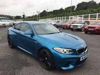 USED 2016 66 BMW 2 SERIES M2 3.0 T COUPE 365 BHP Long Beach Blue, Black Dakota leather, only 2,700 miles