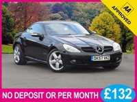 USED 2008 57 MERCEDES-BENZ SLK 1.8 SLK200 KOMPRESSOR 2dr AUTO 161 BHP FULL BLACK LEATHER HEATED SEATS