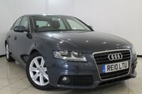 USED 2010 10 AUDI A4 2.0 TDI E SE 4DR 134 BHP CLIMATE CONTROL + PARKING SENSOR + BLUETOOTH + CRUISE CONTROL + MULTI FUNCTION WHEEL + 17 INCH ALLOY WHEELS