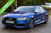 USED 2015 15 AUDI S3 2.0 S3 QUATTRO 4d AUTO 300 BHP.PANORAMIC SUNROOF. *STUNNING EXAMPLE* *GREAT FINANCE DEALS AVAILABLE*