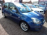 "USED 2008 08 FORD FIESTA 1.4 ZETEC BLUE 5d 80 BHP AIR CONDITIONING, 16"" ALLOYS, 6 CD PLAYER, BLUETOOTH"