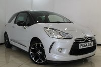 USED 2014 64 CITROEN DS3 1.6 E-HDI DSTYLE PLUS 3DR 90 BHP FULL SERVICE HISTORY + CLIMATE CONTROL + BLUETOOTH + CRUISE CONTROL + PARKING SENSORS +  ALLOY WHEELS