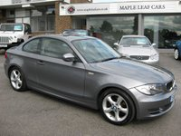 USED 2010 10 BMW 1 SERIES 2.0 118D SPORT 2d 141 BHP Full service History Coupe Start stop model Metallic Grey Parking sensors