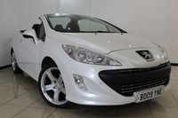 USED 2009 09 PEUGEOT 308 CC 1.6 THP CC GT 2DR 150 BHP SERVICE HISTORY + LEATHER SEATS + CLIMATE CONTROL + PARKING SENSOR + CRUISE CONTROL + AUXILIARY PORT + 18 INCH ALLOY WHEELS