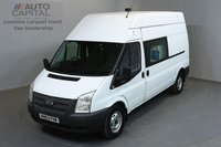 USED 2013 63 FORD TRANSIT 2.2 350 H/R 5d 124 BHP LWB 8 SEAT COMBI VAN MESS WELFARE FITTED WASH BASEN MICROWAVE ONE OWNER FROM NEW