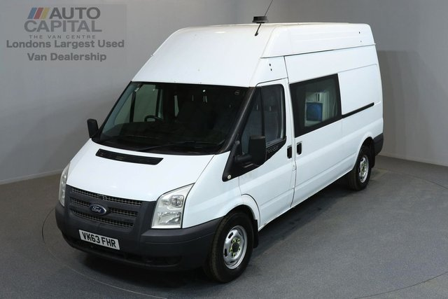 2013 63 FORD TRANSIT 2.2 350 124 BHP L3 H3 LWB HIGH ROOF 8 SEAT COMBI VAN MESS WELFARE ONE OWNER FROM NEW, SERVICE HISTORY