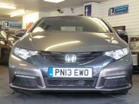"USED 2013 13 HONDA CIVIC 1.8 I-VTEC SE 5d AUTO 140 BHP Fine example in warm grey metallic with LOW MILEAGE ONLY 21,000 miles with full Service History -16""alloy wheels air conditioning,paddle shift and Automatic"