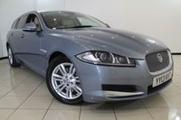 USED 2013 13 JAGUAR XF 2.2 D LUXURY SPORTBRAKE 5DR AUTOMATIC 200 BHP FULL JAGUAR SERVICE HISTORY + LEATHER SEATS + CLIMATE CONTROL + SAT NAVIGATION + REVERSE CAMERA + BLUETOOTH + CRUISE CONTROL + MULTI FUNCTION WHEEL + 17 INCH ALLOY WHEELS