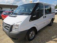 2010 FORD TRANSIT 280 SWB 2.2 TDCI 115 BHP CREW VAN 6 SEATS 53463 MILES ONLY £6995.00