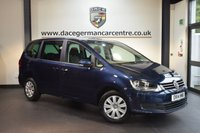 USED 2014 14 VOLKSWAGEN SHARAN 2.0 S TDI 5DR 7 SEATER 142 BHP + FULL VW SERVICE HISTORY + 1 OWNER FROM NEW + SPORT SEATS + AUXILIARY PORT + 7 SEATER + HEATED MIRRORS +