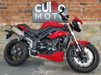 USED 2014 64 TRIUMPH SPEED TRIPLE ABS Red  Arrow Exhausts + ABS