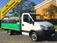 USED 2011 61 IVECO-FORD DAILY 2.3TD 35C13 Mwb Dropside+T/Lift 12ft Alloy Body DRW Ex Highway / Motorway Maintenance, Delivery T,B,A