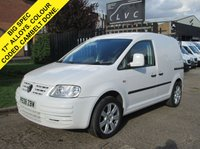 USED 2008 08 VOLKSWAGEN CADDY 2.0SDI C20 DIESEL. 17'' ALLOYS. COLOUR CODED. SPORT LOOK. BIG SPEC. LOW RATE FINANCE. BARGAIN. WARRANTY.