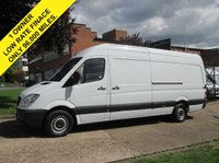 USED 2013 13 MERCEDES-BENZ SPRINTER 2.1 313CDI LWB HIGH ROOF 129 BHP. 1 OWNER. FSH. PX. 5 SERVICE HISTORY STAMPS. LOW RATE FINANCE. WARRANTY