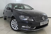 USED 2013 63 VOLKSWAGEN PASSAT 2.0 HIGHLINE TDI BLUEMOTION TECHNOLOGY DSG 4DR AUTOMATIC 139 BHP FULL SERVICE HISTORY + 0% FINANCE AVAILABLE T&C'S APPLY + SAT NAVIGATION + PARKING SENSOR + BLUETOOTH + CRUISE CONTROL + MULTI FUNCTION WHEEL + 17 INCH ALLOY WHEELS