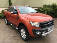 USED 2014 14 FORD RANGER 3.2 WILDTRAK 4X4 DCB TDCI 1d 197 BHP FULL LEATHER, SAT NAV, REVERSE CAMERA, LINER, NEVER TOWED