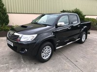 USED 2014 14 TOYOTA HI-LUX 3.0 INVINCIBLE 4X4 D-4D DCB 1d 169 BHP LOW MILES, CLIMATE CONTROL, REVERSE CAMERA, REALLY CLEAN