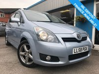 USED 2009 58 TOYOTA COROLLA 2.2 VERSO T180 D-4D 5d 175 BHP LOW MILEAGE, 7 SEATS!