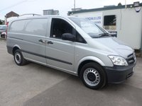USED 2013 13 MERCEDES-BENZ VITO 113 CDI LWB, 136 BHP [EURO 5], 1 COMPANY OWNER (CHOICE OF 2)