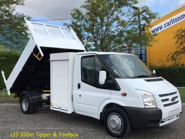 2012 12 FORD TRANSIT 2.2 125 350 LWB Tipper+Pod Toolbox DRW Council, Free UK Delivery,