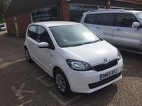 USED 2016 65 SKODA CITIGO 1.0 SE MPI 5d 59 BHP ONLY 11825 MILES 1 OWNER IN CANDY WHITE APPROVED CARS ARE PLEASED TO OFFER THIS  SKODA CITIGO 1.0 SE MPI 5 DOOR 59 BHP WITH ONLY 11825 MILES A 1 OWNER CAR IN CANDY WHITE IN STUNNING CONDITION AND IDEAL FIRST CAR OR SMALL FAMILY RUNAROUND WITH SUPER LOW MILES.
