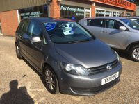 2011 VOLKSWAGEN GOLF PLUS 1.6 SE TDI 5d 103 BHP IN MET GREY WITH FULL VOLKSWAGEN SERVICE HISTORY £6990.00