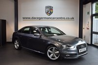 USED 2013 13 AUDI A4 2.0 TDI S LINE 4DR 141 BHP + HALF LEATHER INTERIOR + FULL AUDI SERVICE HISTORY + BLUETOOTH + SPORT SEATS + CRUISE CONTROL + PARKING SENSORS + 18 INCH ALLOY WHEELS +