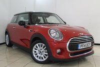 USED 2014 14 MINI HATCH COOPER 1.5 COOPER 3DR 134 BHP HALF LEATHER SEATS + AIR CONDITIONING + PARKING SENSOR + BLUETOOTH + CRUISE CONTROL + 15 INCH ALLOY WHEELS