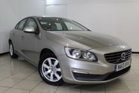USED 2013 13 VOLVO S60 2.0 D3 BUSINESS EDITION 4DR 134 BHP FULL SERVICE HISTORY + HEATED LEATHER SEATS + SAT NAVIGATION + PARKING SENSOR + CRUISE CONTROL + MULTI FUNCTION WHEEL + 16 INCH ALLOY WHEELS