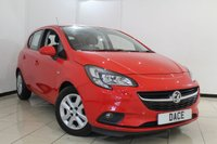 USED 2016 VAUXHALL CORSA 1.2 DESIGN CDTI ECOFLEX S/S 5DR 94 BHP AIR CONDITIONING + BLUETOOTH + CRUISE CONTROL + MULTI FUNCTION WHEEL + ALLOY WHEELS
